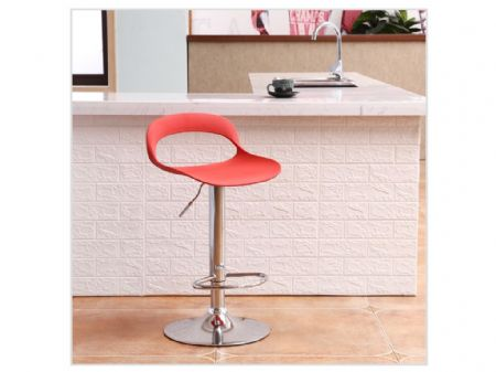 milana bar stools in black / grey /red / white